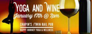 yoga and wine at chapin's in minooka